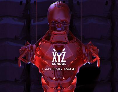 Landing page XYZ school