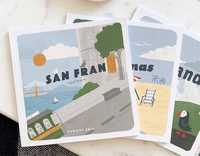 Travel Book Illustrations