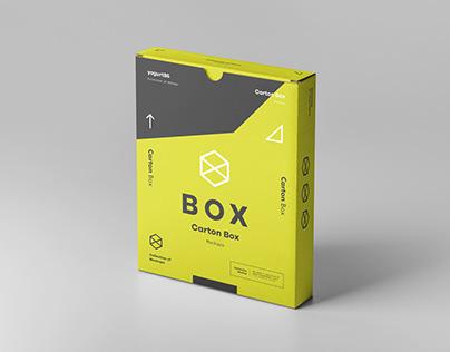 Flat Carton Box Mockup