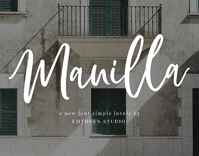 FREE Manilla Script Font
