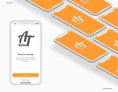 UX/UI design of AnyTaxi application