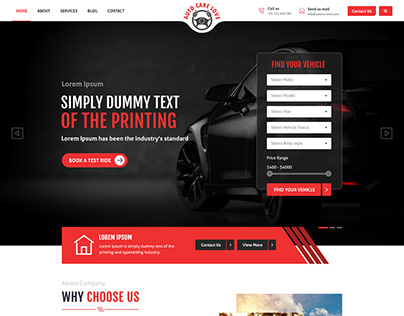 Automobiles - PSD Web Layout Design