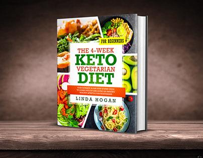 Keto Vegetarian Diet for Beginners book cover design