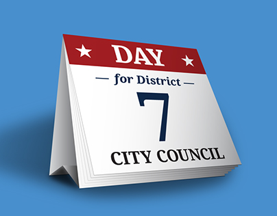 City Council Poster: Desktop Day Calendar
