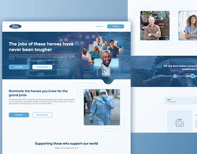 Covid appreciation website design