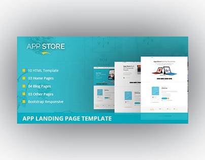 App Store - App Landing Page Template