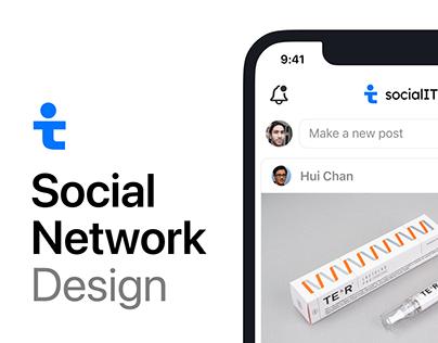SocialIT Design - Social Networking app for IT-industry
