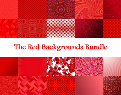 The Red Backgrounds Bundle