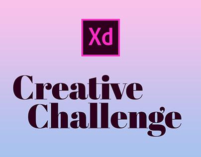 Adobe XD Creative Challenge March 2-13