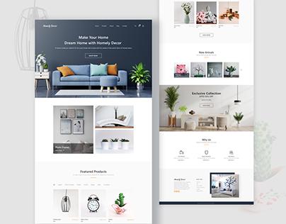 Home Decor Website Landing Page