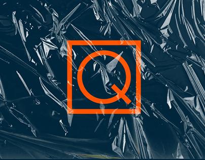 Qbizm minimal design concept logo