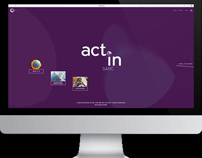 The actinsarc.com Web Experience.