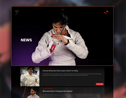 Web Design - Fencing Sports