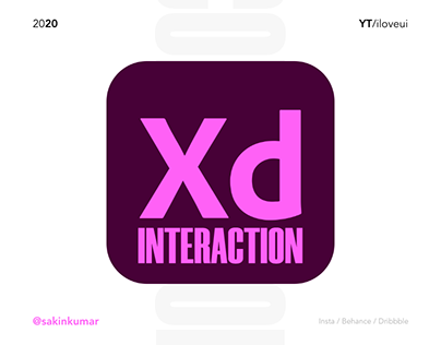 Mobile App UI/UX Interaction Collection | Adobe Xd 2020