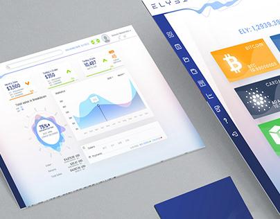 Cryptocurrency shopping platform web UI Design