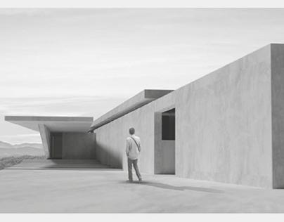 Дом в стиле модернизм с видом на море