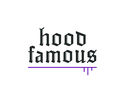 Hoodfamous. Logo design.