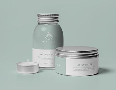 ZAIVA Cosmetics - Brand Identity