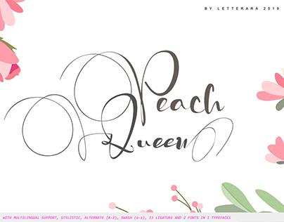 Free Peach Queen Script Font