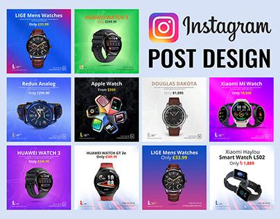 Instagram banner design for Watch Brand.
