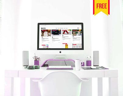(Free) Imac Mockup PSD Free Download