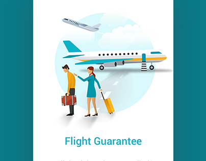 Flight ticket search app onboarding animations