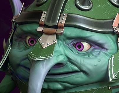 Goblin in armor
