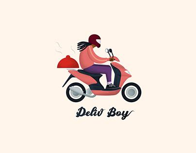 Logo réalisé pour DelivBoy