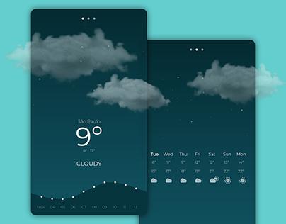 Weather app UI concept (2018)
