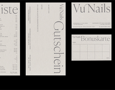 Vu Nails printed forms