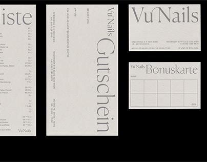 Vu Nails printed forms