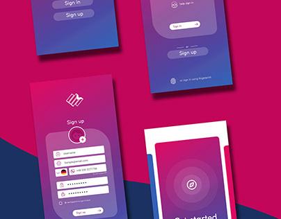 Emergency Service App Designing & Prototyping