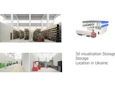 3d visualization Storage Storage Location in Ukraine