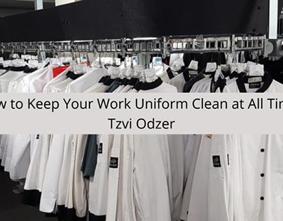 Tzvi Odzer Shows You How to Keep Your Work Uniform