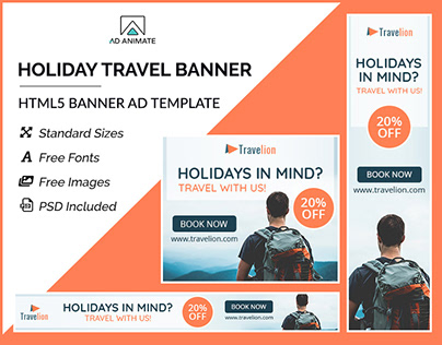 Holiday Travel Banner- HTML5 Ad Templates