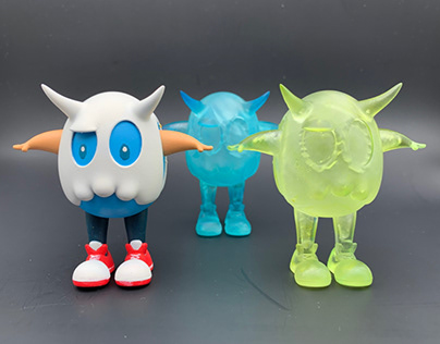 """3"""" resin clean and blue versions"""