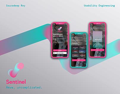 App Interface for Unbiased News: Sentinel