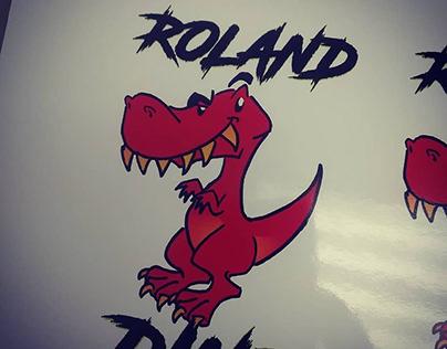 Roland The Dino Memorial Decals/Tattoo