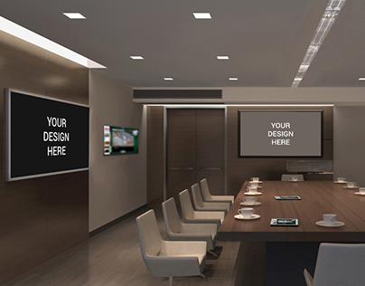 TV Screens in Office Mockup