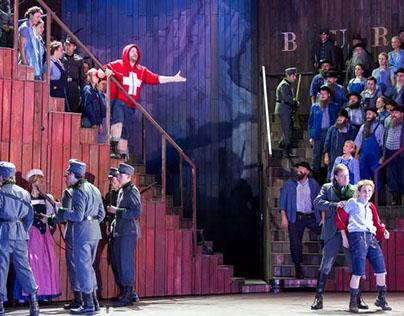 Stage painting for WILHELM TELL - Oper Graz - Austria