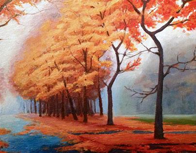 Acrylic Painting Practise