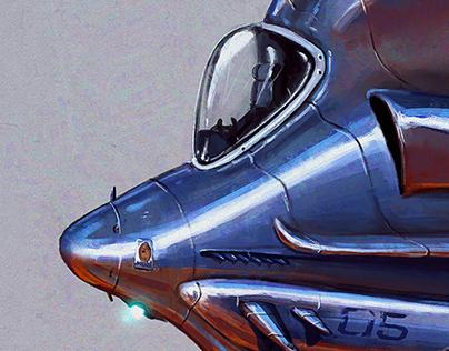 Spaceship Wasp-05 Prop Design