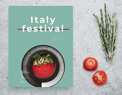 Italy festival menu restaurant