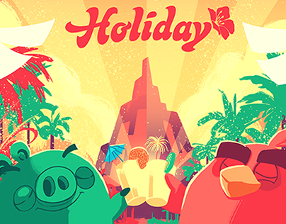 Angry Birds Holiday Poster