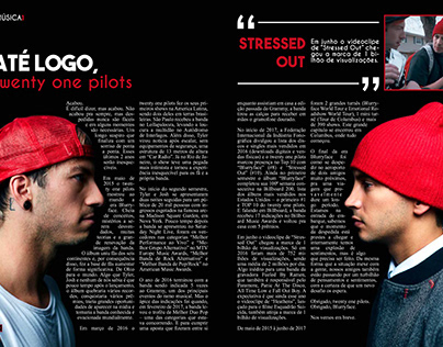 DESIGN EDITORIAL - PÁGINA DUPLA TWENTY ONE PILOTS