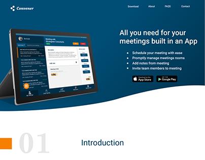 Convener: A Management App for Meetings