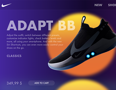 Nike website / Sneakers e-commerce