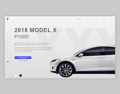 Tesla Model X landing page design