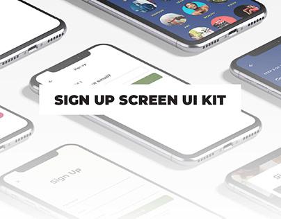 Sign Up Screen UI Kit