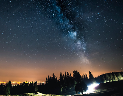 Night sky from Mont Tendre